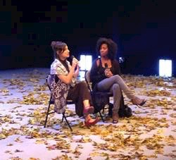 Vertigo's Noa Wertheim and Melanie in a post-show discussion