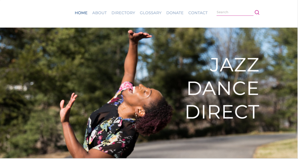 Photo of Latasha Barnes by Jess Keener from the JAZZ DANCE DIRECT home page.