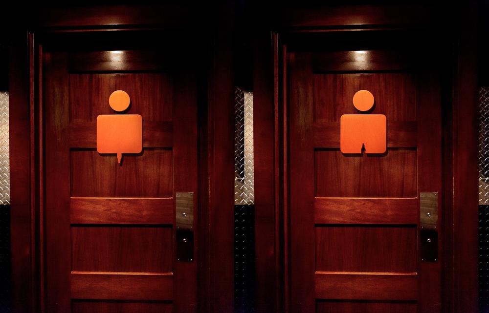 Bathroom Sign Mockup beer bathroom door — palmer holmes