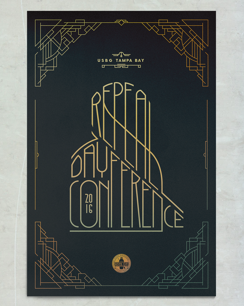 USBG Tampa Bay Repeal Day 2016 Poster - Palmer Holmes