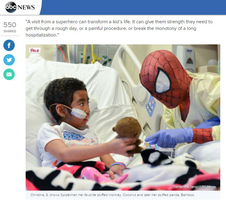 http://abcnews.go.com/US/superheroes-surprise-sick-kids-hospital/story?id=34632323