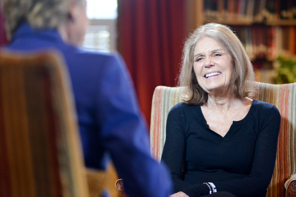 During an interview with ABC News' Cokie Roberts,  Gloria Steinem said she thinks the United States is ready for a female commander on Thursday, October 29, 2015. (WASHINGTON, DC)