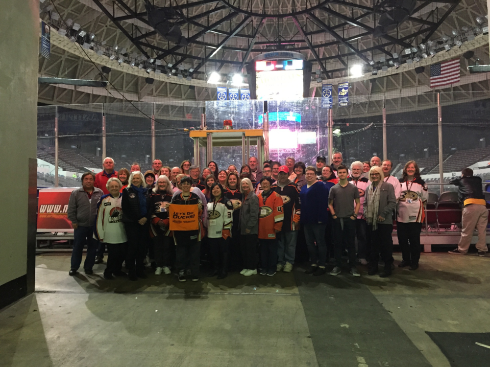 Anaheim Ducks Die Hards visit Norfolk, VA for an Admirals game.