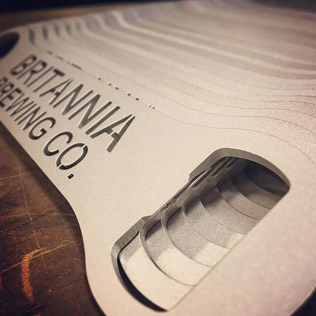 Another run of bottle openers for @britanniabrewing @britanniabrewingcompany . Stainless steel, laser cut, sandblasted finish and all the Instagram filters are how Kevin likes them. #lasercut #lasercutting #laser #laserart #stainlesssteel #bottleopener #britanniabrewingco #britanniabrewing #yvrdesign #yvrfoodie #yvrbrew #vancouverbrewery #stevestonvillage #stevestonbc