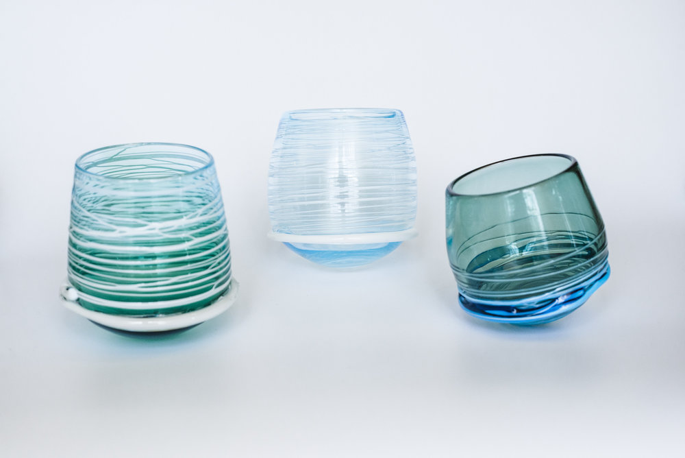 Wobble cups. 4inx4.5in.February 2018.