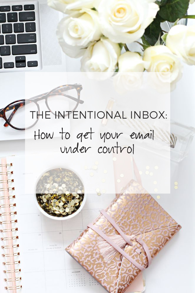 The intentional inbox :: how to get your email under control // rachelgadiel.com