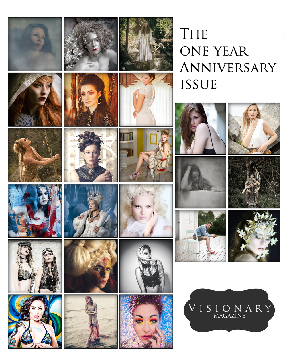 The Anniversary Issue - August / September 2016  * Featuring every artist that has been published in Visionary Magazine for the past year!