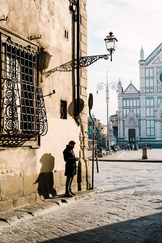 Man Standing Near Santa Croce (1 of 1).jpg