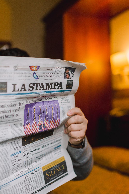 Hotel Arizona La Stampa On Bed (1 of 1).jpg