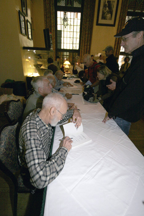 George Whitmore autographing a book in the Ahwahnee Great Lounge, November 9th, 2008.