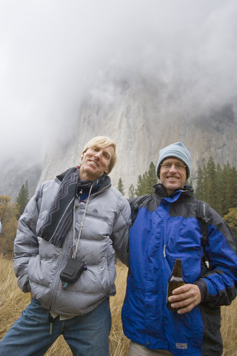 Steve Schneider and Hans Florine El Cap Meadow.