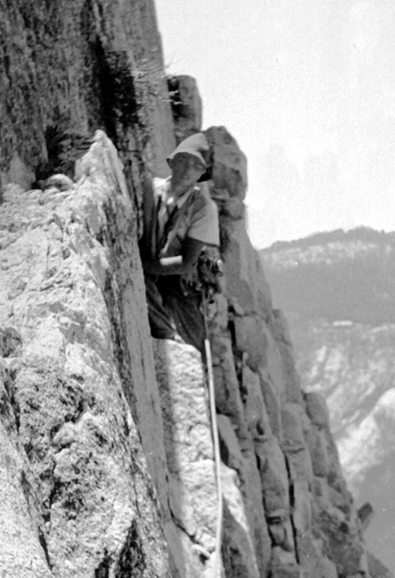 Jerry Gallwas on the Robbins Traverse. Jerry Gallwas collection.