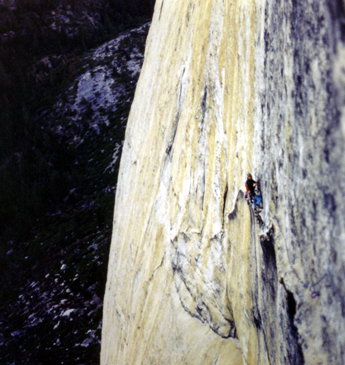 Ken Yager at the belay on the start of the 5th pitch called the Yardarms..jpg