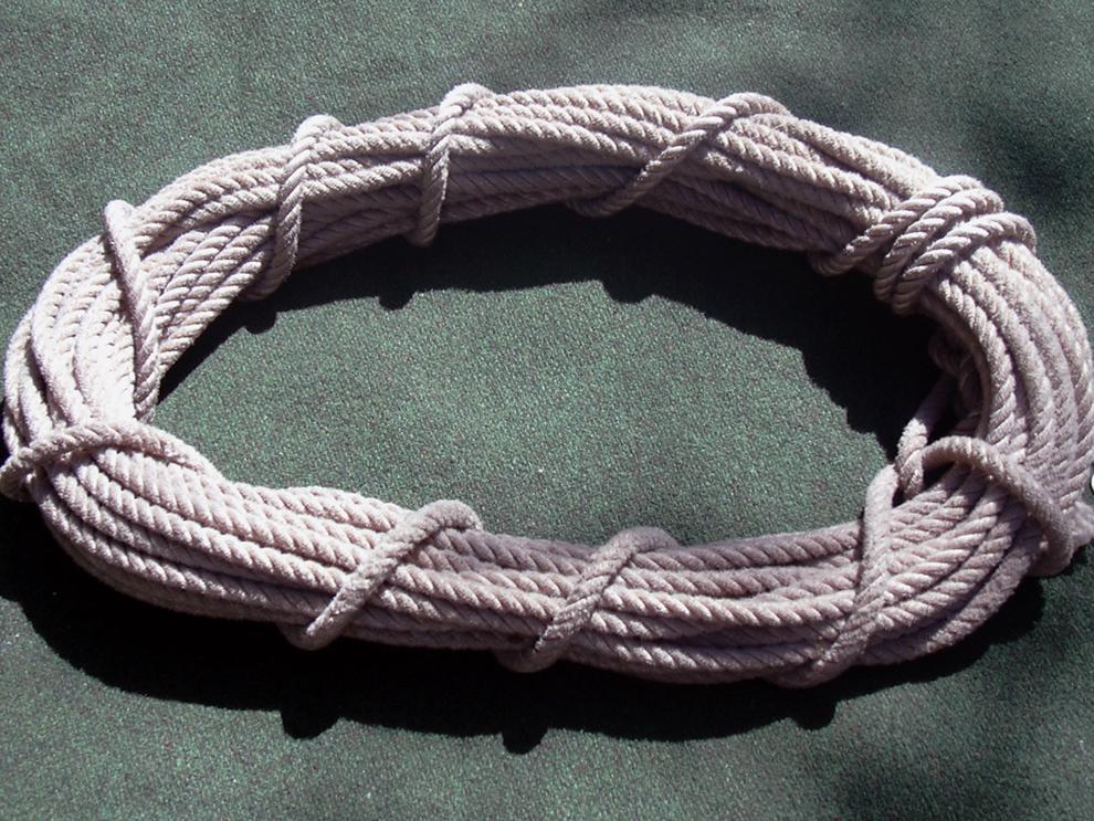 Salathe RopeJohn Salathe's rope. Donated by John Thune Jr..JPG