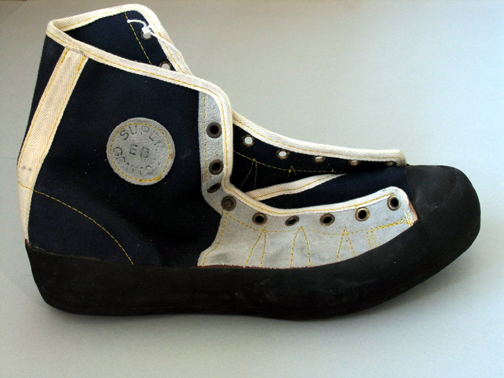 The EB  The classic 1970's free climbing shoe.