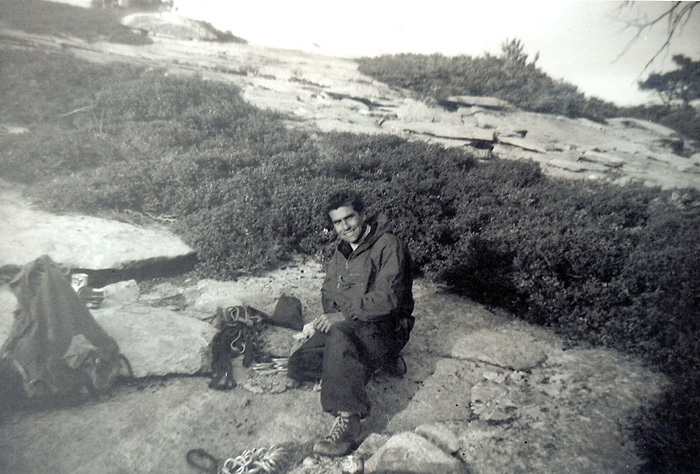 hardingimage5Warren Harding on the summit of El Capitan during the cleanup 2 weeks after the first ascent in 1958.