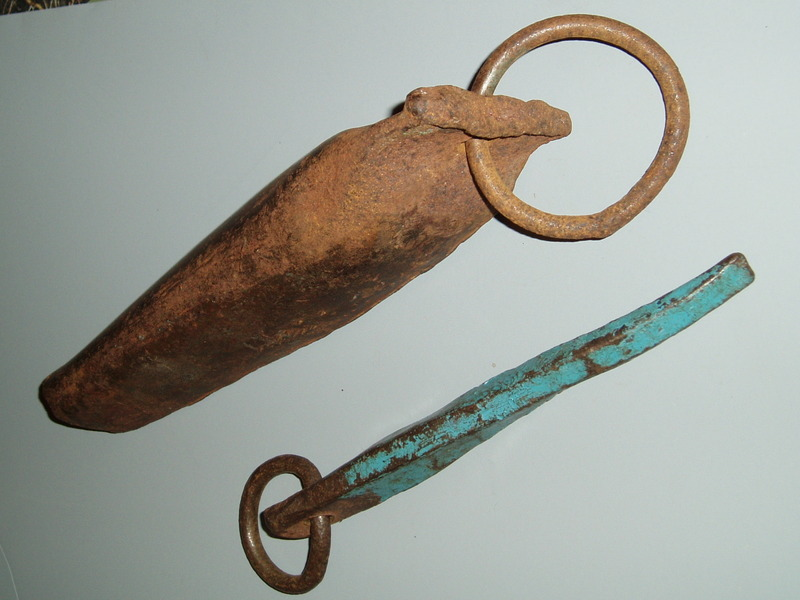These items were donated by Frank Tarver. The Salathe piton was found during the second ascent of the Lost Arrow Chimney..jpg