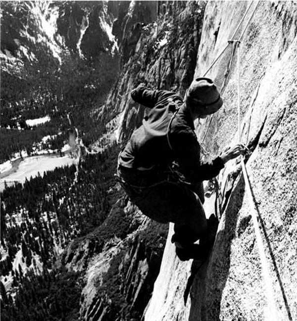 Al Steck on Yosemite Point Buttress