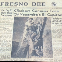 Fresno Bee Article Nose First ascent