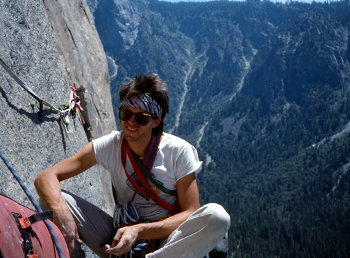 Don Reid on the Salathe Wall, 1986. Photo by Ken Yager.