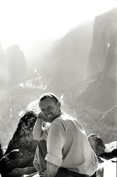 Henry Kendall on top of Lower Brother. Henry went on to receive the Nobel Prize for his work in Physics. Tom Frost photo