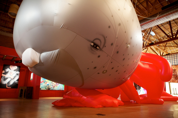 Munko parade balloon by David Choe, 2010