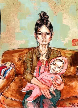 David-Choe-Mom-Daughter