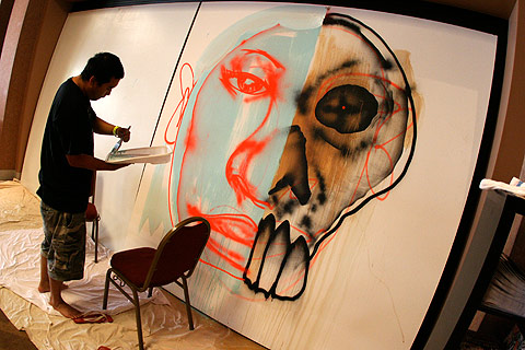 David Choe painting Trade Off