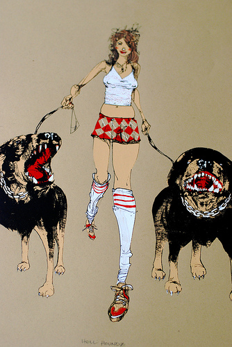 Hell Houndz print by David Choe