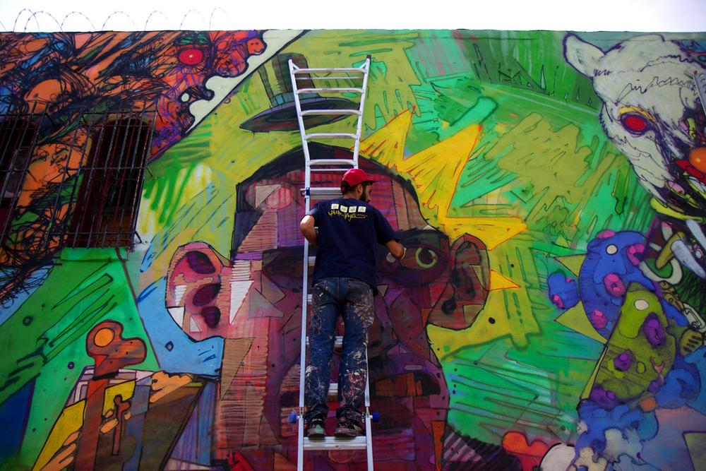 David choe aryz retna in la david choe for David choe mural