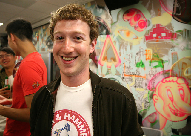 Mark Zuckerberg at Facebook HQ