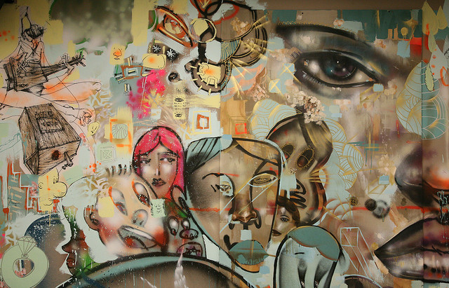 Facebook murals by David Choe