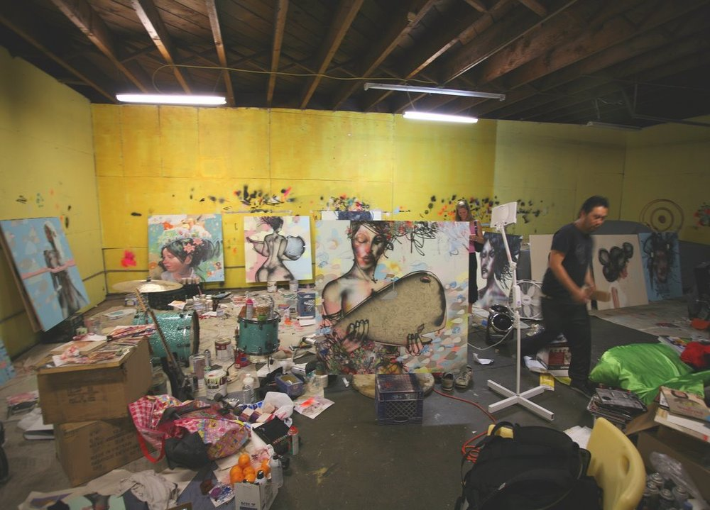 David-Choe-Brief-Look-Inside-Studio