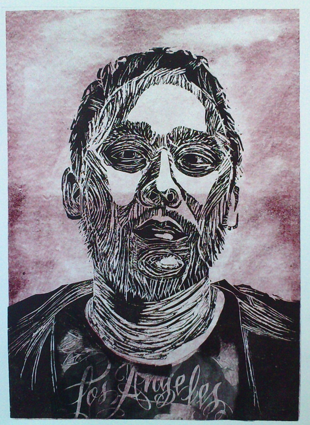 David-Choe-LA-Mixed-Media-relief-Print
