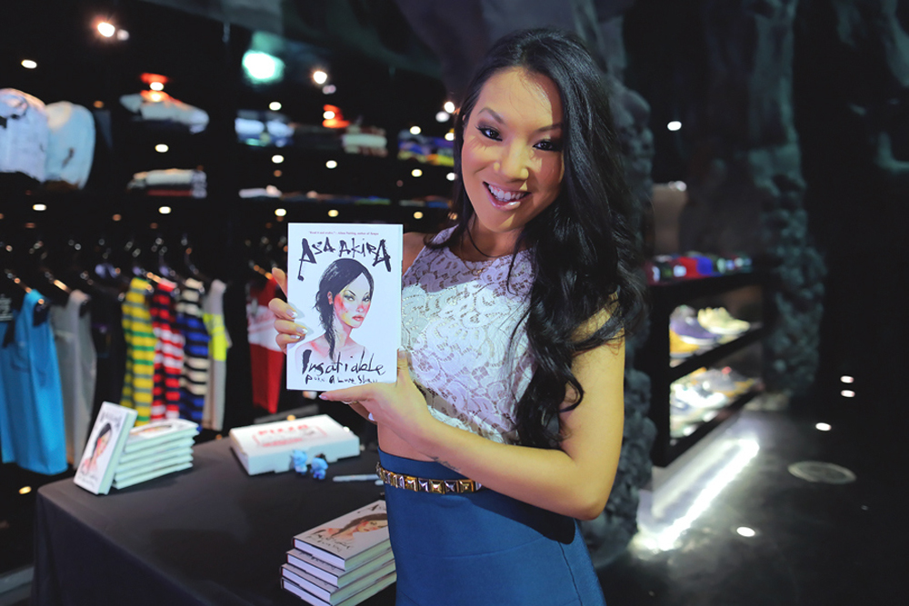 Asa Akira Book Signing Cover Art By David Choe David Choe