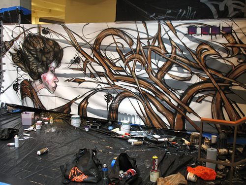 David Choe and Saber mural collaboration