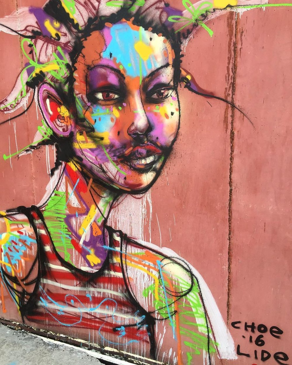 David Choe mural produced with the Lide Foundation in Haiti in 2016.
