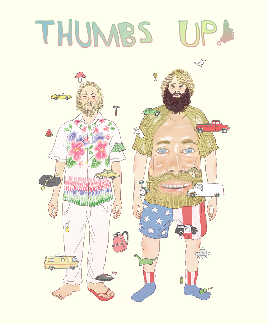 David Choe x Critter Fleming Thumbs Up art by Tae Lee