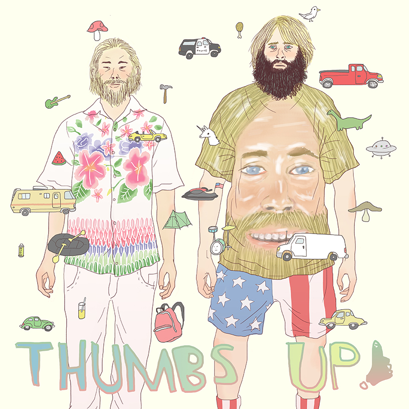 David Choe and Critter Thumbs Up poster by Tae Lee