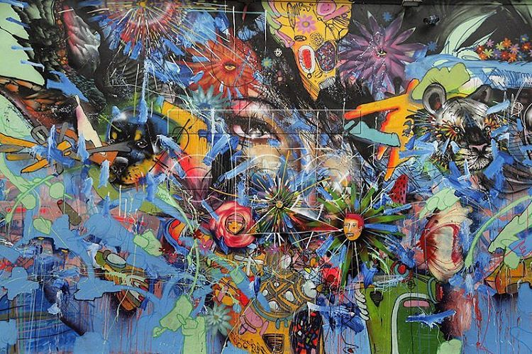 David Choe mural for Wynwood Walls in Miami - Nothing Lasts Forever - part of the FearLessWalls 16' public art exhibition