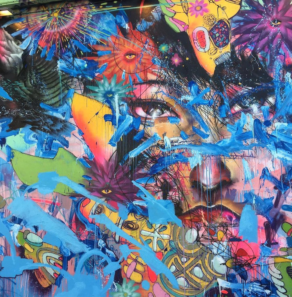David Choe Nothing Lasts Forever mural detail