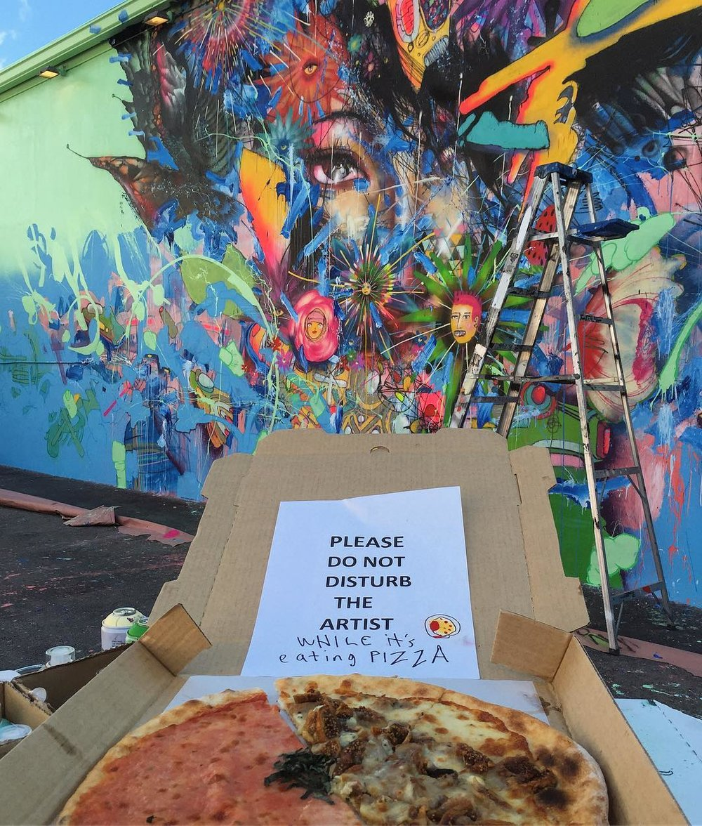 David Choe - Please do not disturb the artist while he's eating his pizza