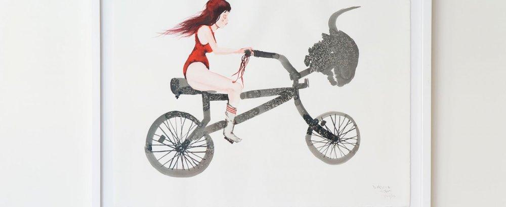 David Choe watercolor at Momofuku Nishi, New York. Credit: Momofuku Nishi