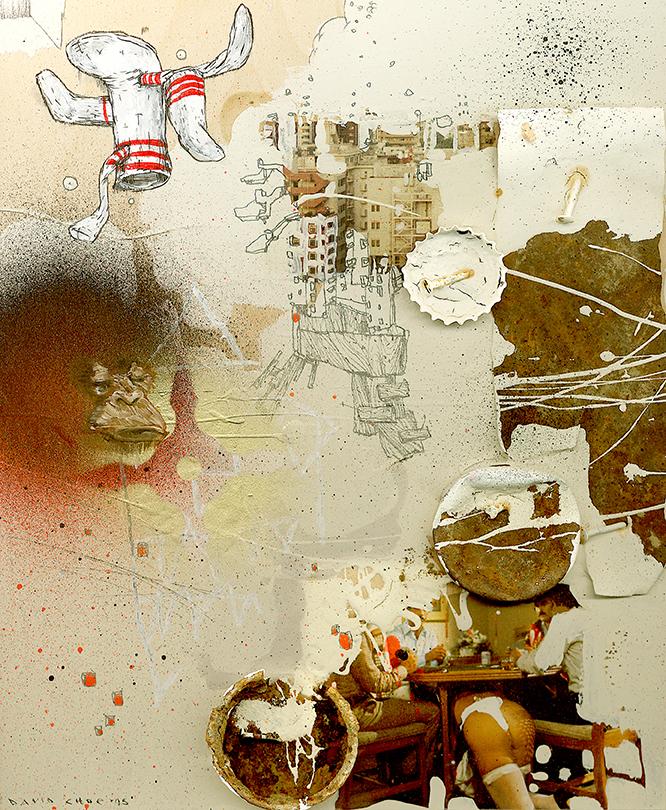 David Choe Obtuse Socks Beige (2006)
