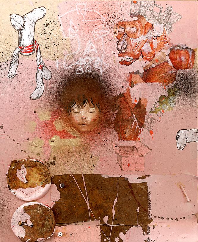 David Choe Obtuse Socks Pink (2006)