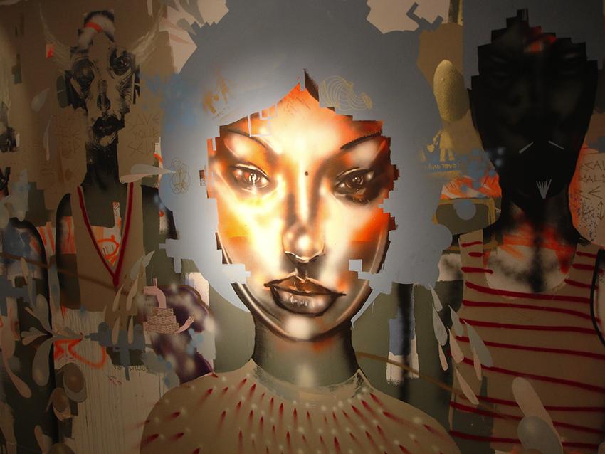 David Choe MOCA mural detail