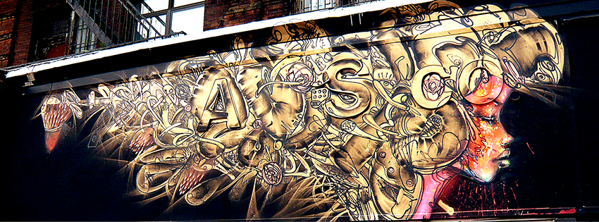 David Choe mural in Soho, New York (2008)
