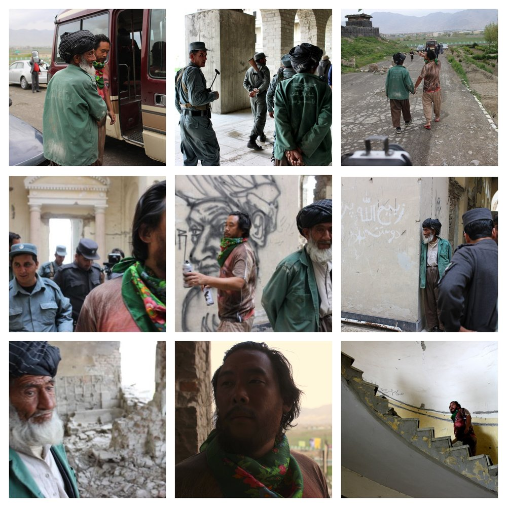 Photos of artist David Choe in Afghanistan by photographer Estevan Oriel in 2013