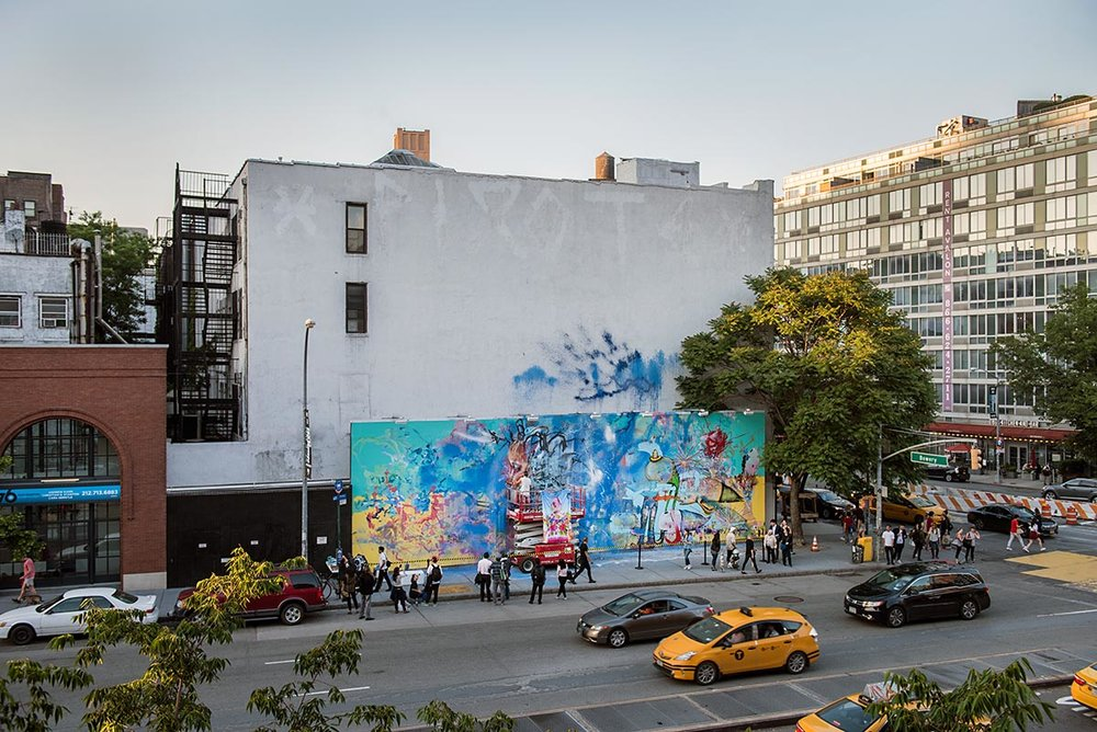 Artist David Choe mural at the Bowery in New York. Photo by Martha Cooper.