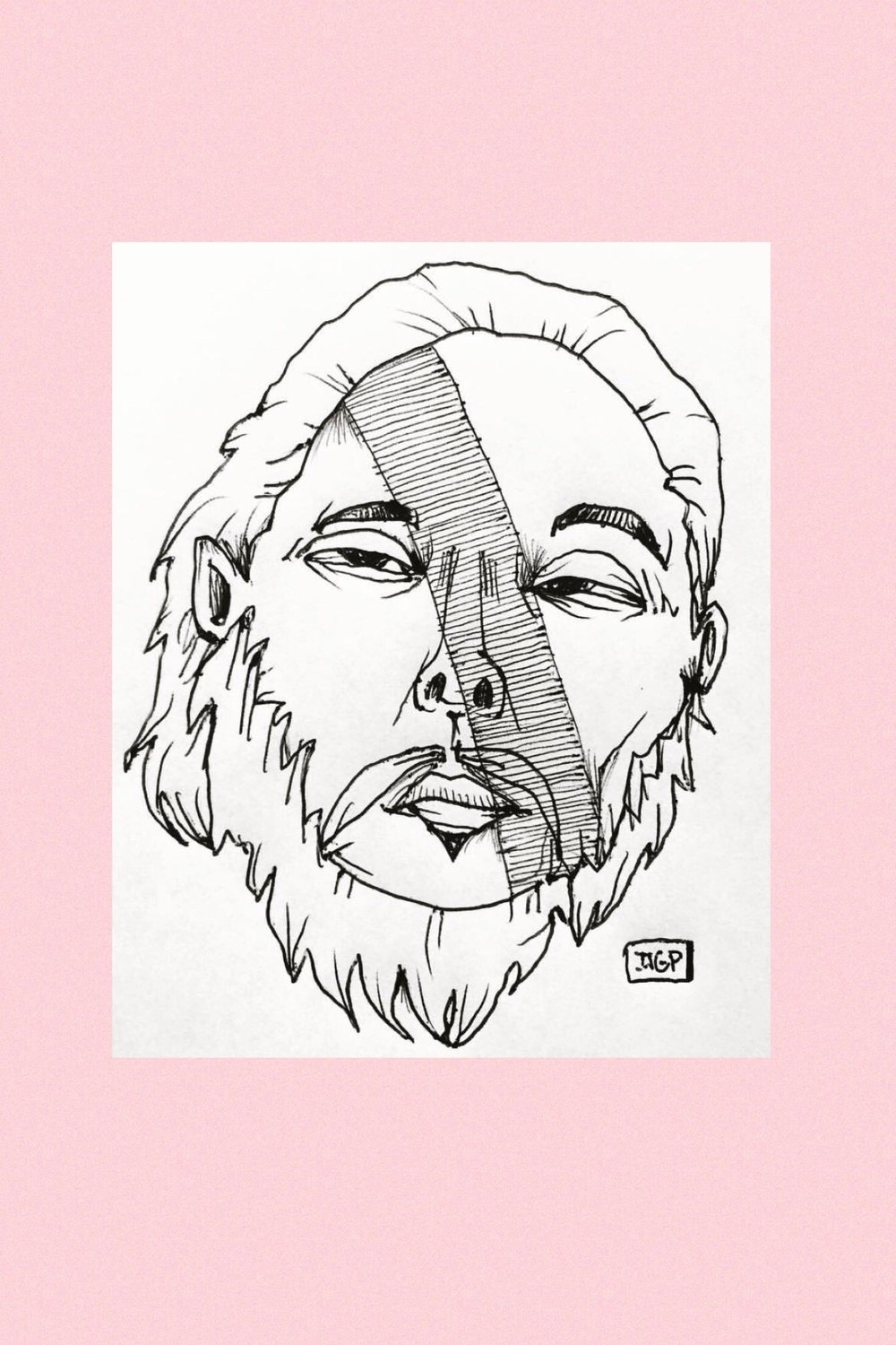 David Choe Pen Fan Art Portrait